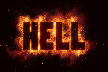 hell Fire Satanic sign gothic style evil esoteric