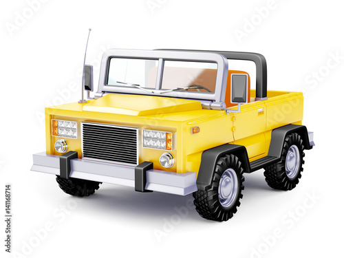 Cartoon Safari Suv Yellow Stock Photo And Royalty Free Images On