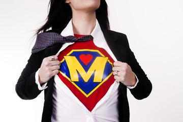 Mother Tears Clothing Revealing Superhero Uniform Flight Suit Supermom