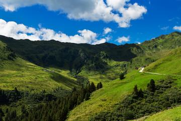 Wall Mural - Mountain landscape along Zillertal high road in austrian Alps. Zillertaler Hoehenstrasse, Austria, Tyrol, Tirol