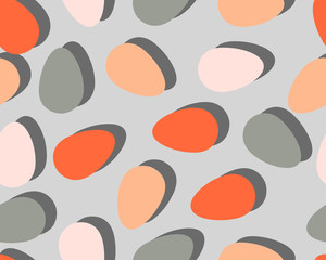 Cute seamless vector pattern with easter eggs.
