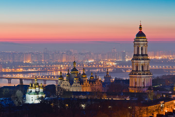 Wall Murals Kiev Aerial view at sunrise of the Kiev-Pechersk Lavra - one of the main symbol of Kiev, Ukraine