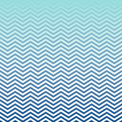 Navy Blue Aqua White Ombre Chevron Vector Pattern. Nautical Background. Gradient Fade Texture Dip Dye Style. Horizontally Seamlessly Repeating Tile Swatch.