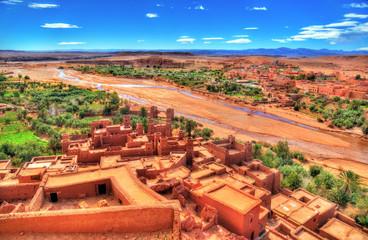 Landscape near Ait Ben Haddou village in Morocco