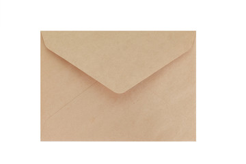 Brown paper envelope isolated on white background