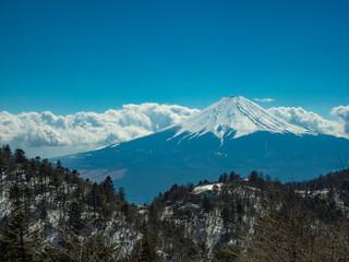 三つ峠山からの富士山の眺め