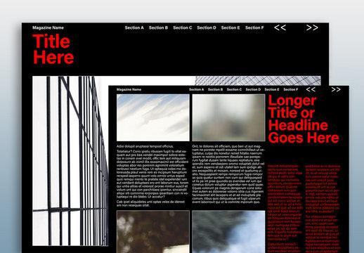 Dark Digital Magazine Layout