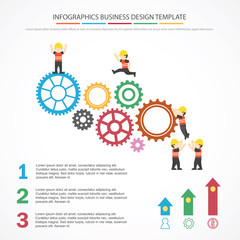 Modern Business Concept , Info Graphic Elements. The idea of teamwork and success