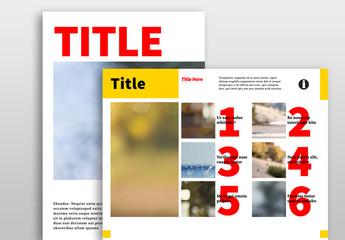 Contemporary Digital Magazine Layout