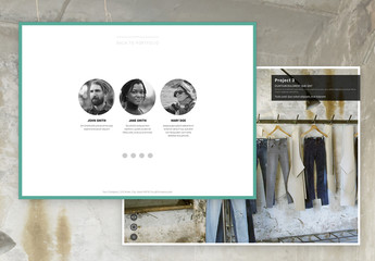 Interactive Mosaic Portfolio Layout