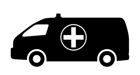 The car of medical service.
