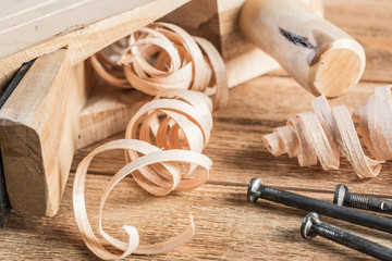 Wooden planer and filings