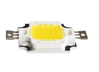 Macro photo of COB (Chip On Board) LED light
