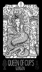 Minor Arcana Tarot card. Engraved vector illustration. See all collection in my portfolio set