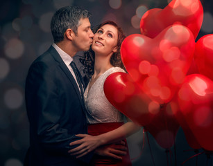 love couple dance in the night