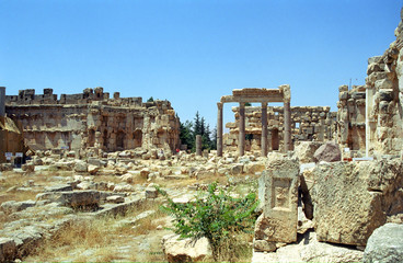 Ruins of the former city of Heliopolis, the city of God Baal, Ba