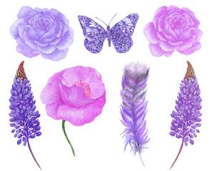 purple set for design