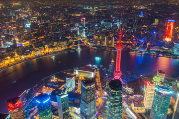 Keuken foto achterwand Shanghai Oriental Pearl Tower located at Lujiazui finance and trade zone in Pudong.