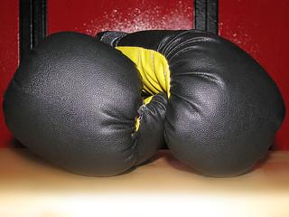 Fototapeta Teen boxing gloves obraz