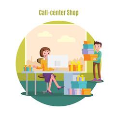 Shop Helpline Service Concept