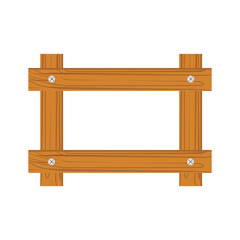Wooden frame for photo isolated on white background