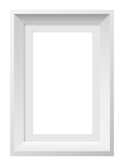 Square frame for photos and vector pictures