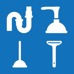 Set of 4 plumbing filled icons