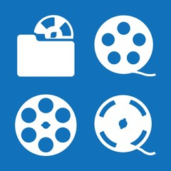 Set of 4 reel filled icons