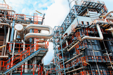 Refinery, Industry oil and gas tube plant
