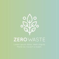 Isolated Vector Style Illustration Logo Set Badge Recycling Ecological Concept, Green Energy, Zero Waste Symbol
