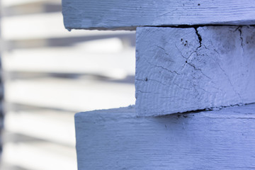 White wooden fence with horizontal lines