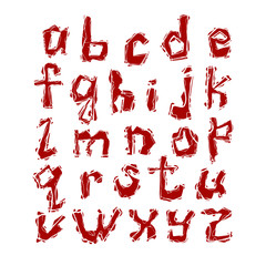 vector font. letters of latin alphabet