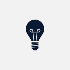 Idea bulb icon simple illustration