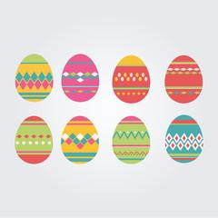 Set of  Easter`s eggs. Happy easter. Decorative eggs. Egg.