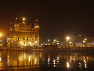 Floodlit Golden Temple, Amritsar