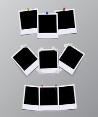 Vector set of vintage photo frames.