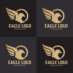 Eagle logo design template. Eagle head logo design concept. Vector illustration