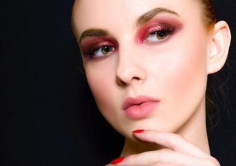 Beautiful  Girl. Perfect  Make-up. Close-up Portrait