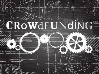 Crowdfunding Blackboard Tech Drawing