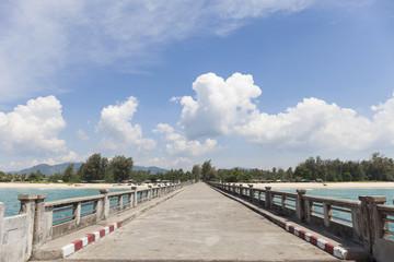 cement bridge in phang nga (natai bridge) thailand.