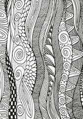Vertical artistically ethnic pattern.