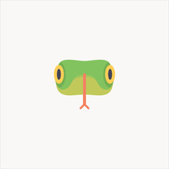 snake template icon flat design