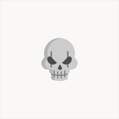 Skull icon. Halloween icon.