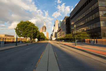 Philadelphia skyscrapers on a beautiful day