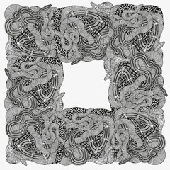 Artistically snakes frame.