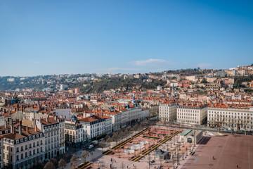 Panorama de Lyon vu du haut de la Grande Roue