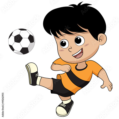 Cartoon soccer kid immagini e vettoriali royalty free for Scarica clipart