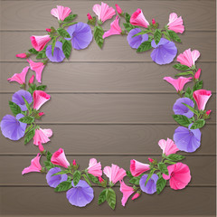 Colorful floral wreath.
