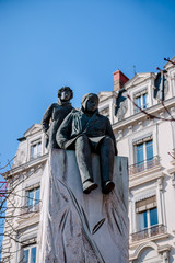 Statue de Saint-Exupéry à Lyon vers la place Bellecour