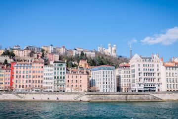 Saint-Georges et vieux Lyon vu des quais de Saône